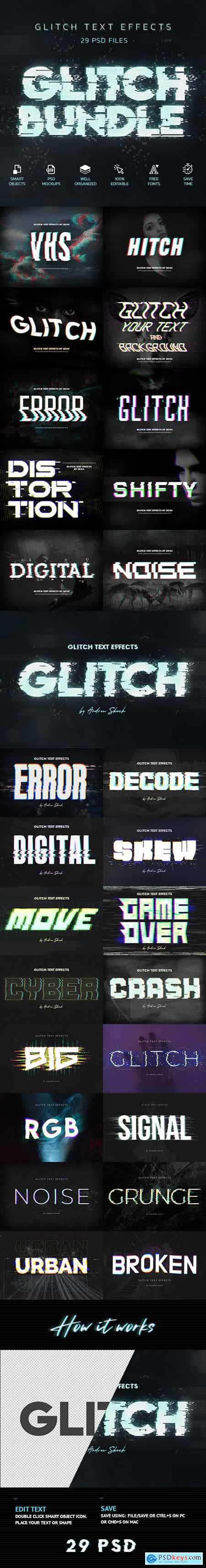 Glitch Effects Bundle 29750877