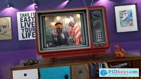 Old TV Youtube Opener 29347658
