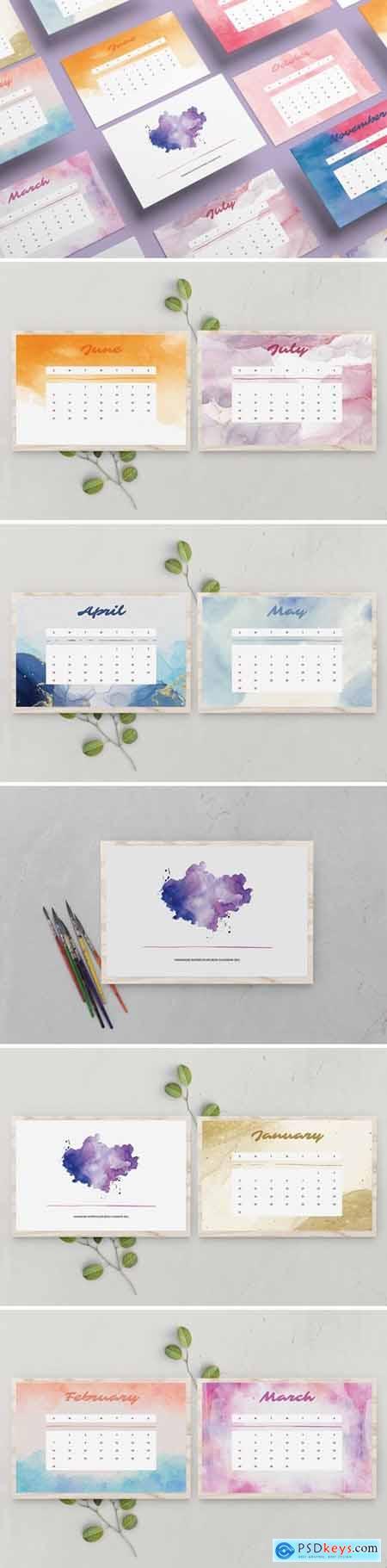 Handmade Watercolor Calendar 2021