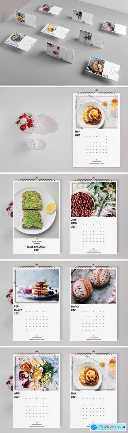 Food Wall Calendar Template 2021
