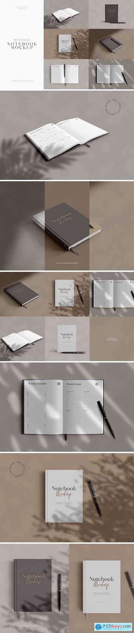 Minimal Notebook Mockups