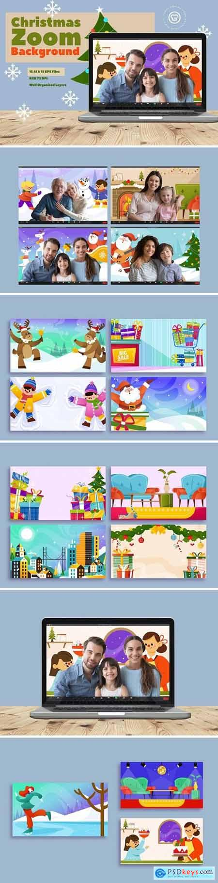 Christmas Zoom Background Template