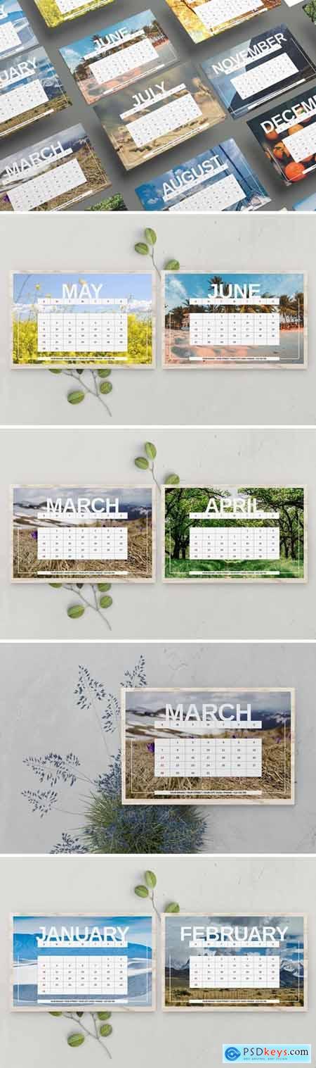 Nature Desk Calendar Template 2021