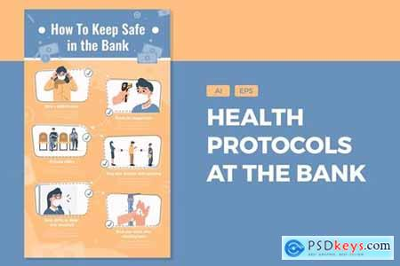 How To Keep Safe In The Bank - Infographics