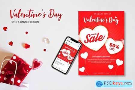 Valentines Day Flyer & Banner Design