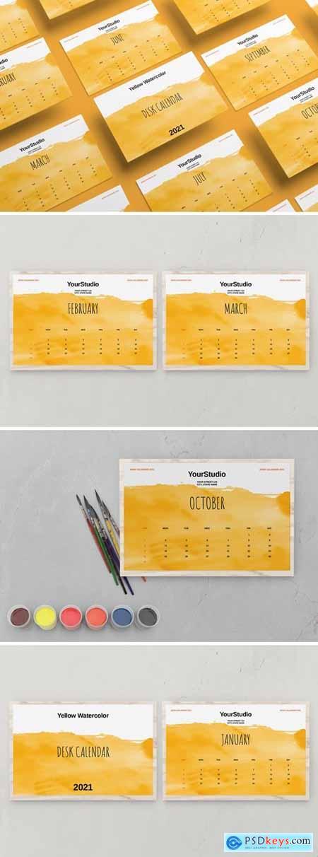 Desk Calendar Template 2021 MSYNKJA