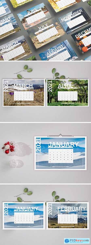 Nature Wall Calendar Template 2021