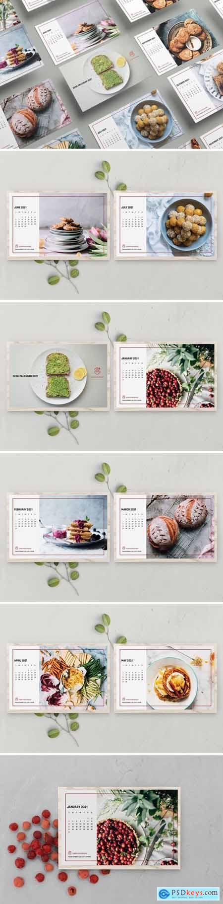 Food Desk Calendar Template 2021
