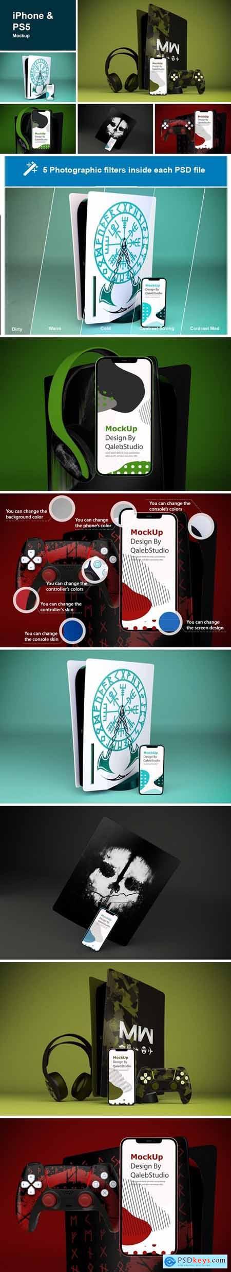 iPhone 12 & PS5 Mockup