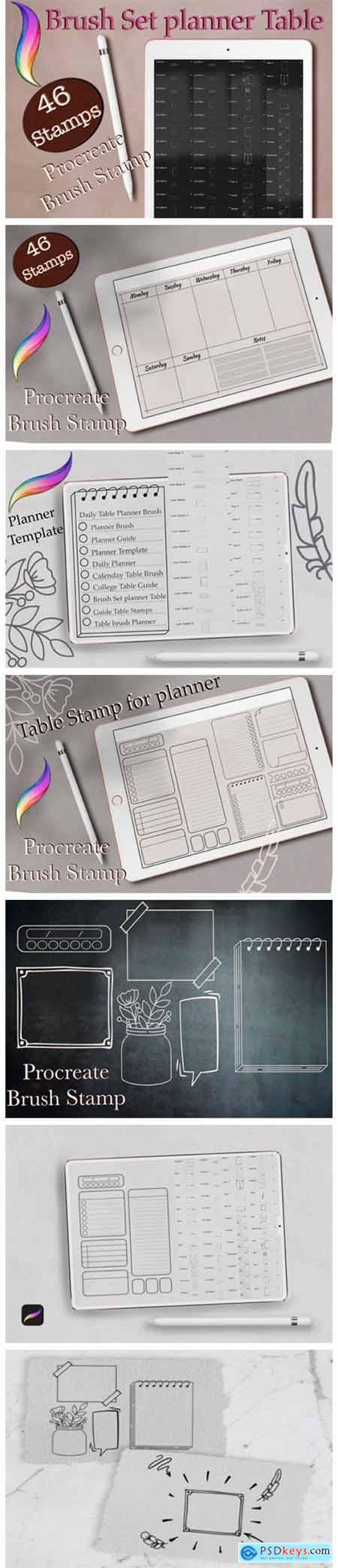 46 Planner Stamps, Brush Stamp Planner 7156963