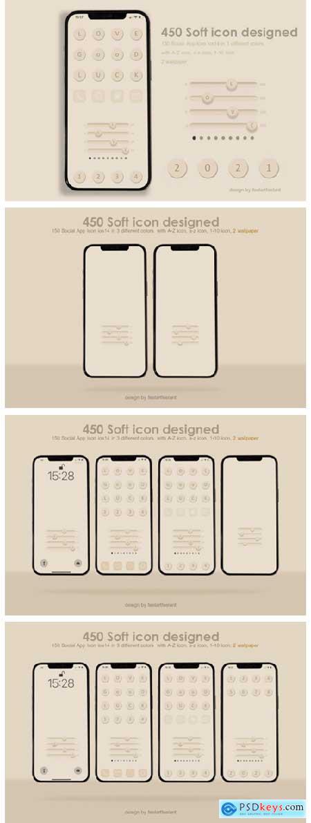 450 Social Icons App Aesthetics 7153618