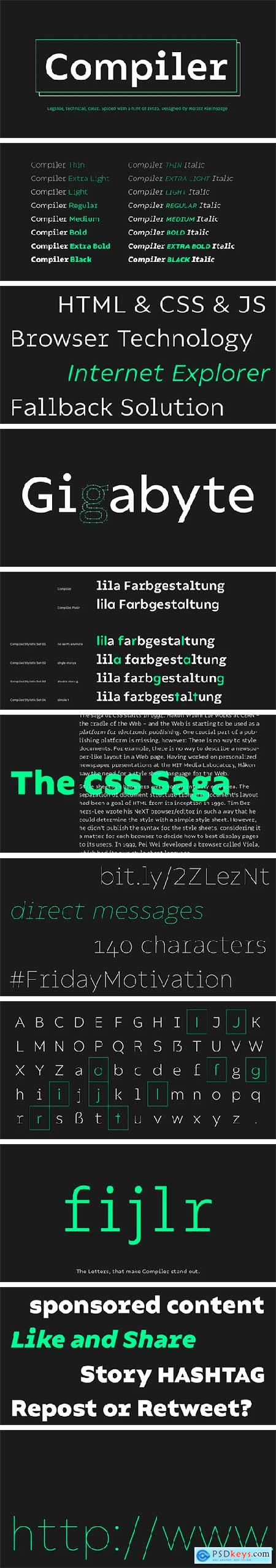 Compiler Font Family