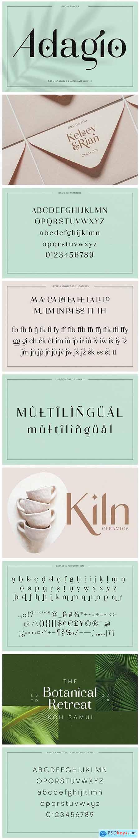 Adagio Decorative Ligature Font Duo 5184158