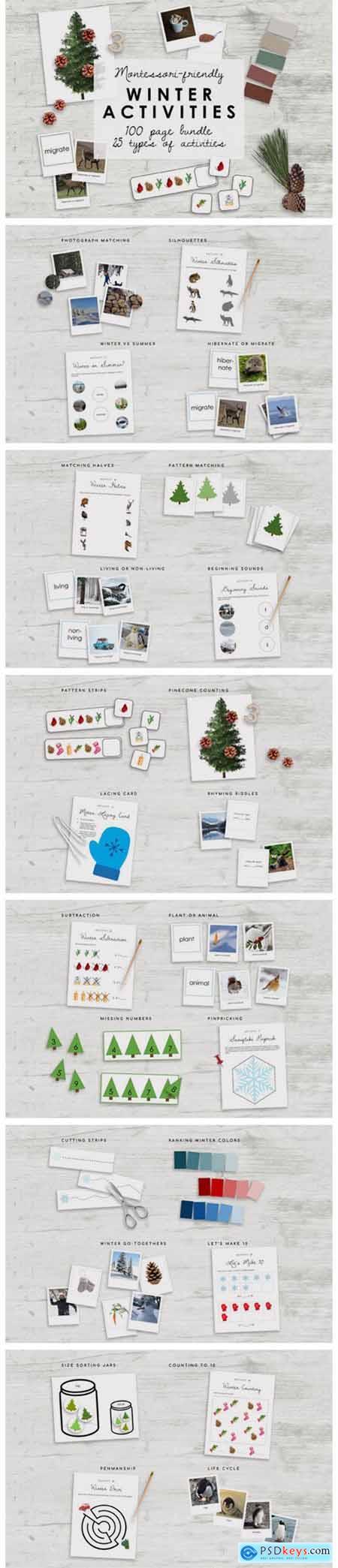 Montessori Winter Bundle - Kindergarten 7175613
