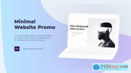 Minimal Website Promo Laptop Mockup 29505029