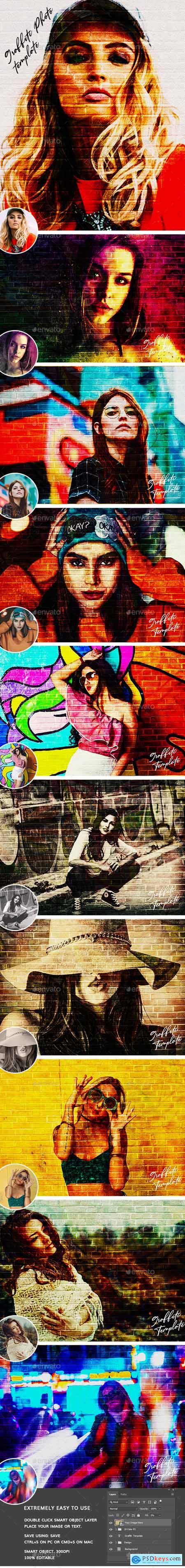 Graffiti Effects Photo Template 29594237