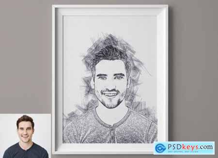 Line Art Sketch Photoshop Action 5709720