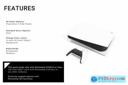 Sony Playstation 5 Side Panels Mockup 5680609