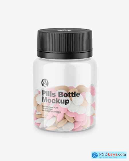 Clear Pills Bottle Mockup 72289
