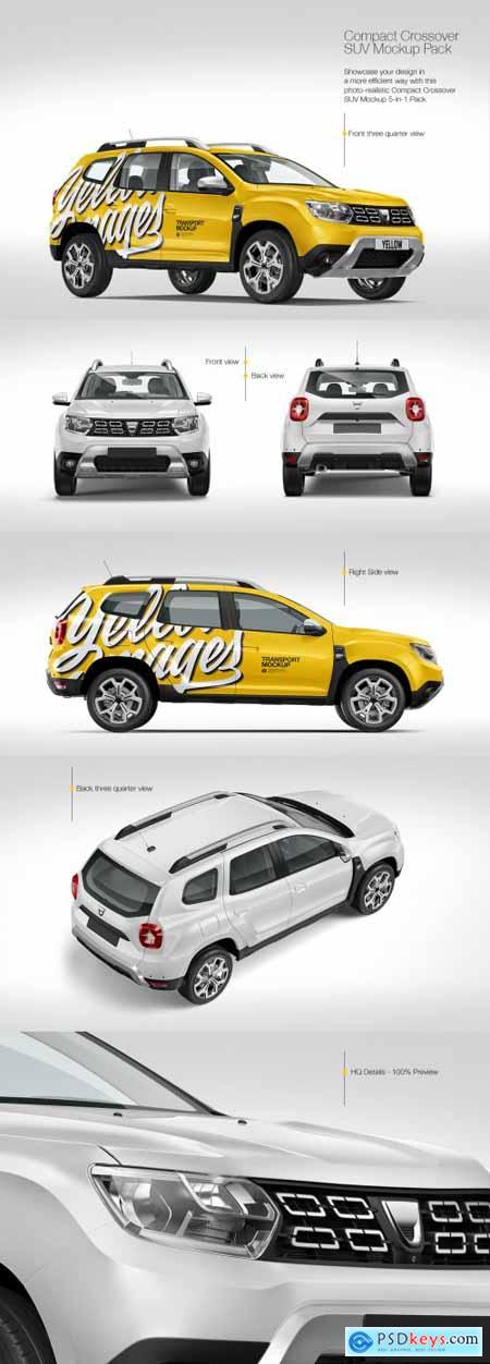 Compact Crossover SUV Mockup Pack 72594
