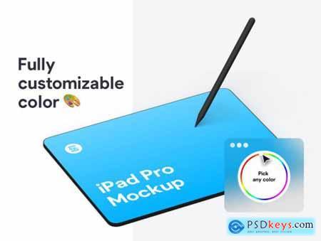 iPad Pro Clay Mockups