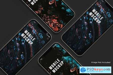 Beautiful smartphone multiple screen mockup