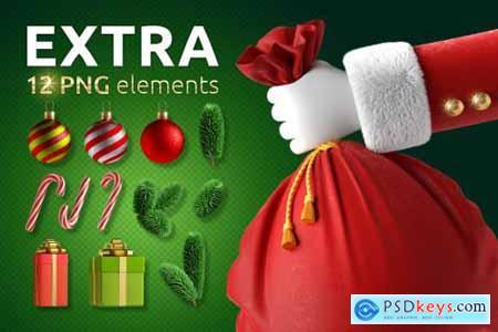 Christmas Santa Claus Hands