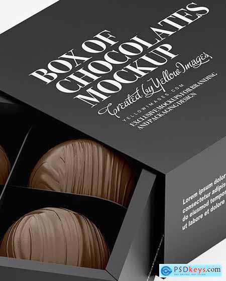 Box with Chocolates Mockup 72230
