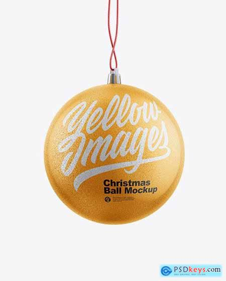Textured Christmas Ball Mockup 72606