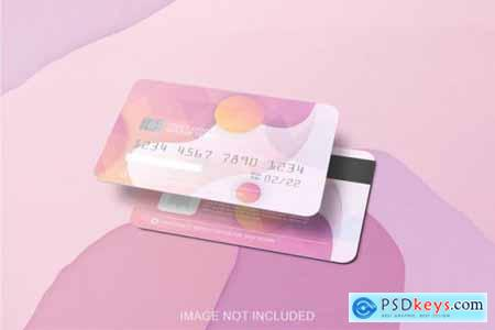 Mockup of two credit card