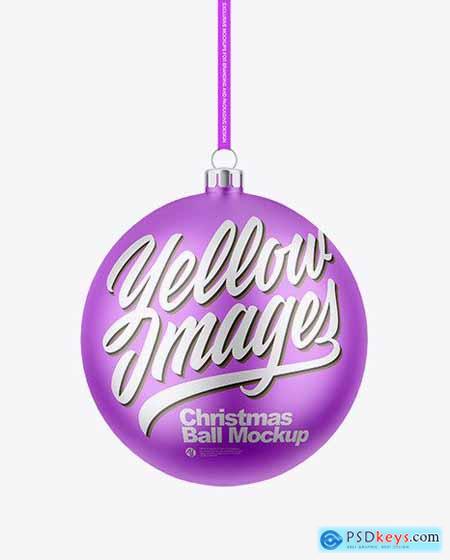 Matte Metallic Christmas Ball Mockup 72907
