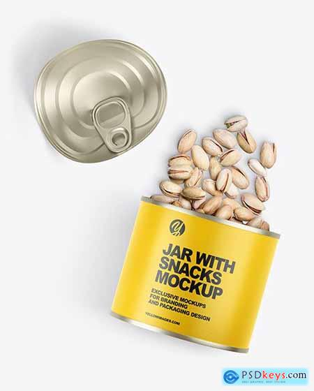 Jar with Snacks Mockup 72300