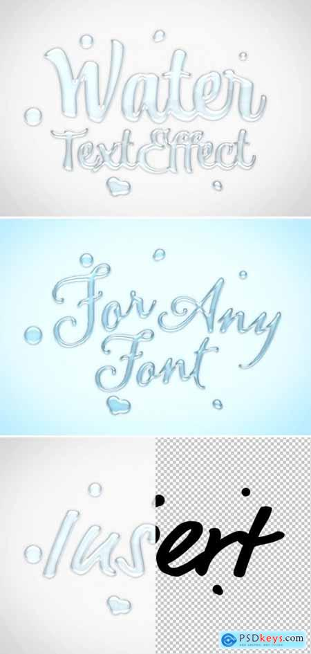 Water Text Effect Mockup 401058379