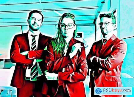 Comic Effect Photoshop Action 5183708