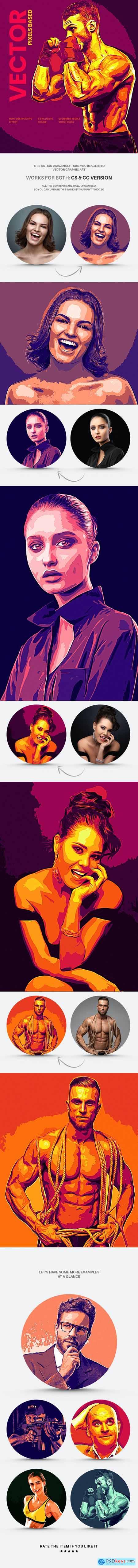 Vector Graphics Art Action 29430033