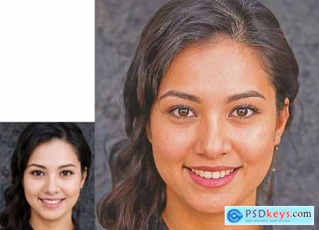 Halftone Effect Photoshop Action 5099129