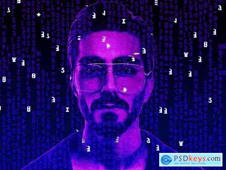 Matrix Effect Gif Photoshop Action 5299018
