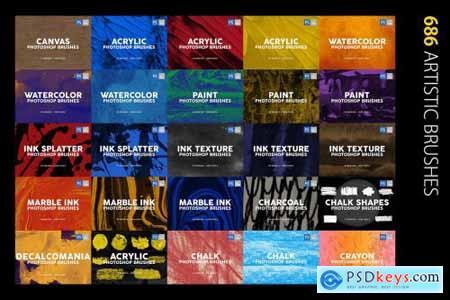 3000 Photoshop Stamp Brushes Bundle 5657270