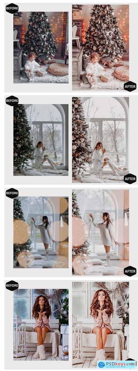 10 Glamour Xmas Mobile Lightroom Presets 7099082