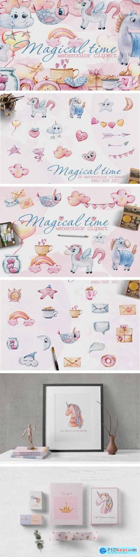 Watercolor Nursery Valentine Clipart 6975245