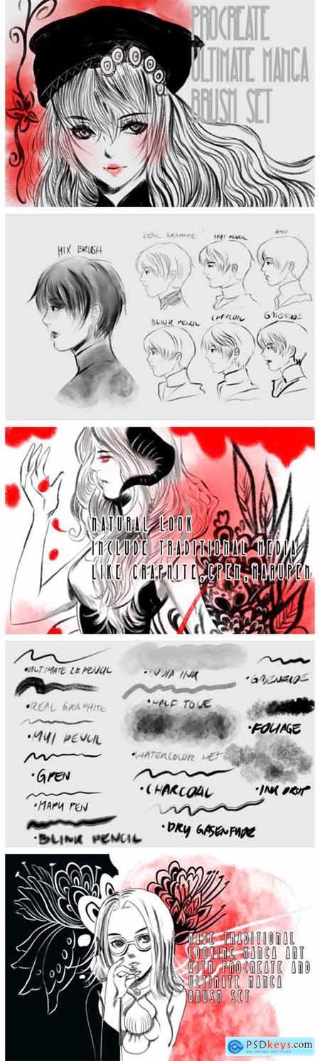 Ultimate Manga Procreate Brush 6973876
