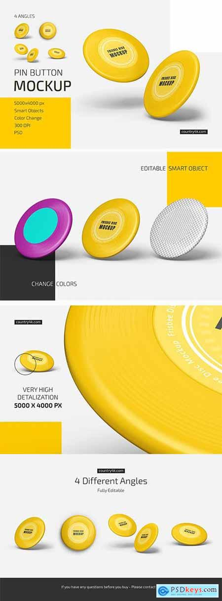 Frisbee Disc Mockup Set 5725115