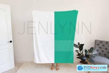 50x60 Custom Minky Blanket Mockup 2 - 5723186