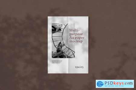 Multipurpose A4 Paper Mockup - 5723442