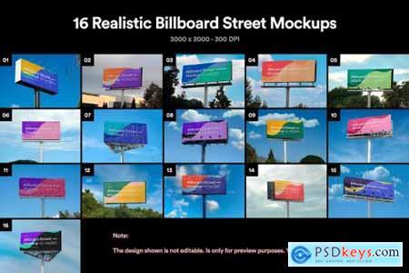16 Billboard Street Mockups - PSD 5700025