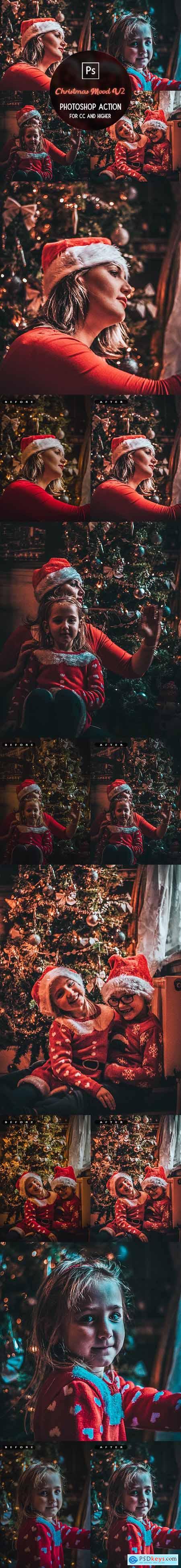 Christmas Mood V2 - Photoshop Action 29732703