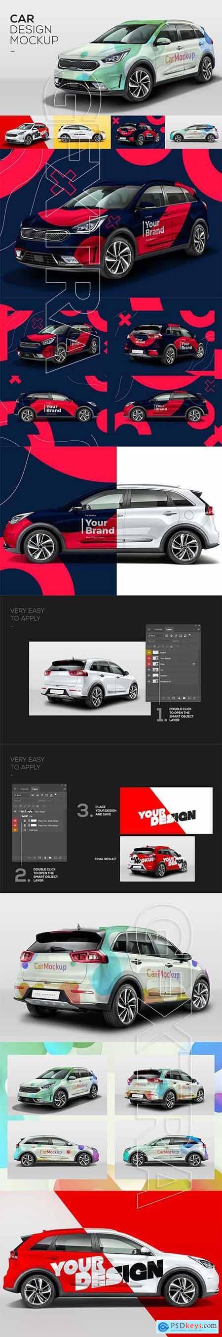 Car Mockup Customizable PSD 5467244