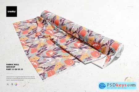 Fabric Roll Mockup - 5723146