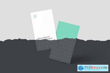 Vertical Business Card Mockups - 5723435