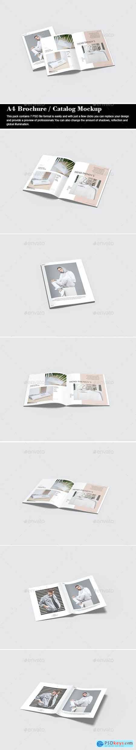 A4 Brochure - Catalog Mockup - 29429258